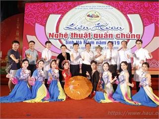 Đại học Công nghiệp Hà Nội đạt 02 giải vàng, 01 giải bạc và chứng nhận xuất sắc toàn đoàn tại Liên hoan Nghệ thuật Quần chúng tỉnh Hà Nam năm 2019